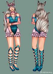 Shinaa Okamia's New Design by Aundreamay