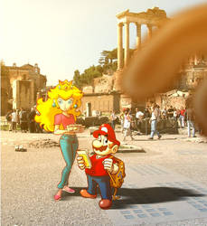 Mario and Peach: Vacanze Romane by Fededraws