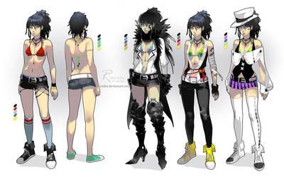 Raven - costume designs by einlee