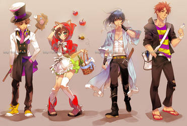 assorted costumes by einlee