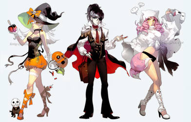 Ghouls and Gals by einlee