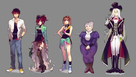 RftD character designs by einlee