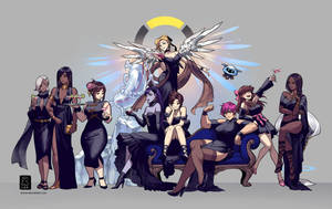 Overwatch Gowns by einlee