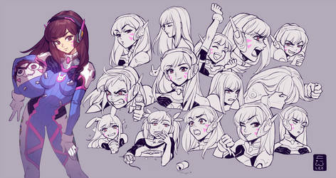 D.Va Expressions by einlee