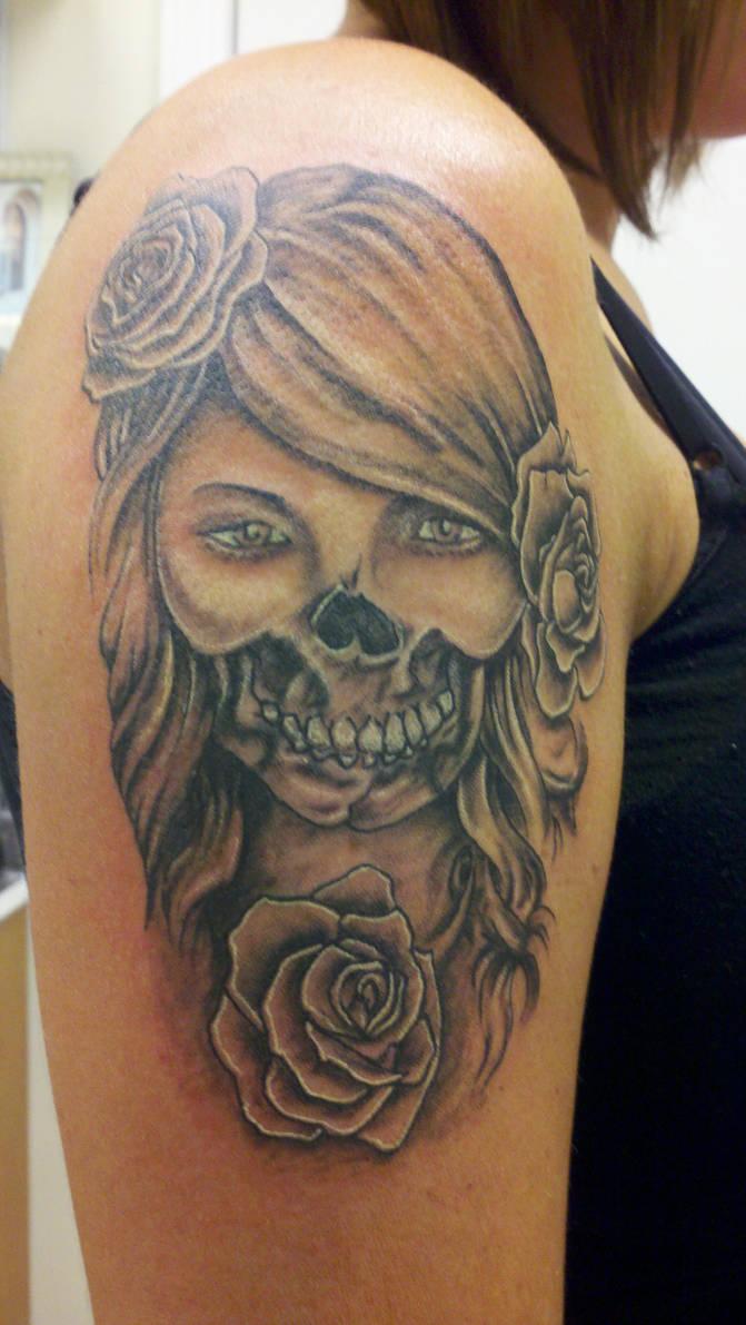 Day Of The Dead Girl Tattoo By Joey Ellison By Joeyellisontattooart