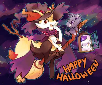 Happy late Halloween! by suikuzu