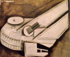millenium falcon abstract oil painting by TOMMERVIK