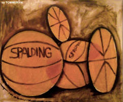 basketballs painting by TOMMERVIK