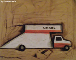 uhaul abstract truck by TOMMERVIK