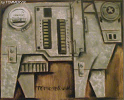 abstract cow meter switch board painting by TOMMERVIK