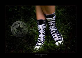 Allstar wearing Converse by -nightm4r3-