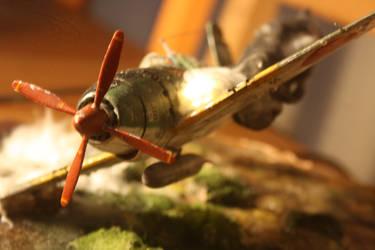 Japanese Raiden Airplane crash diorama by SulacoGigabit