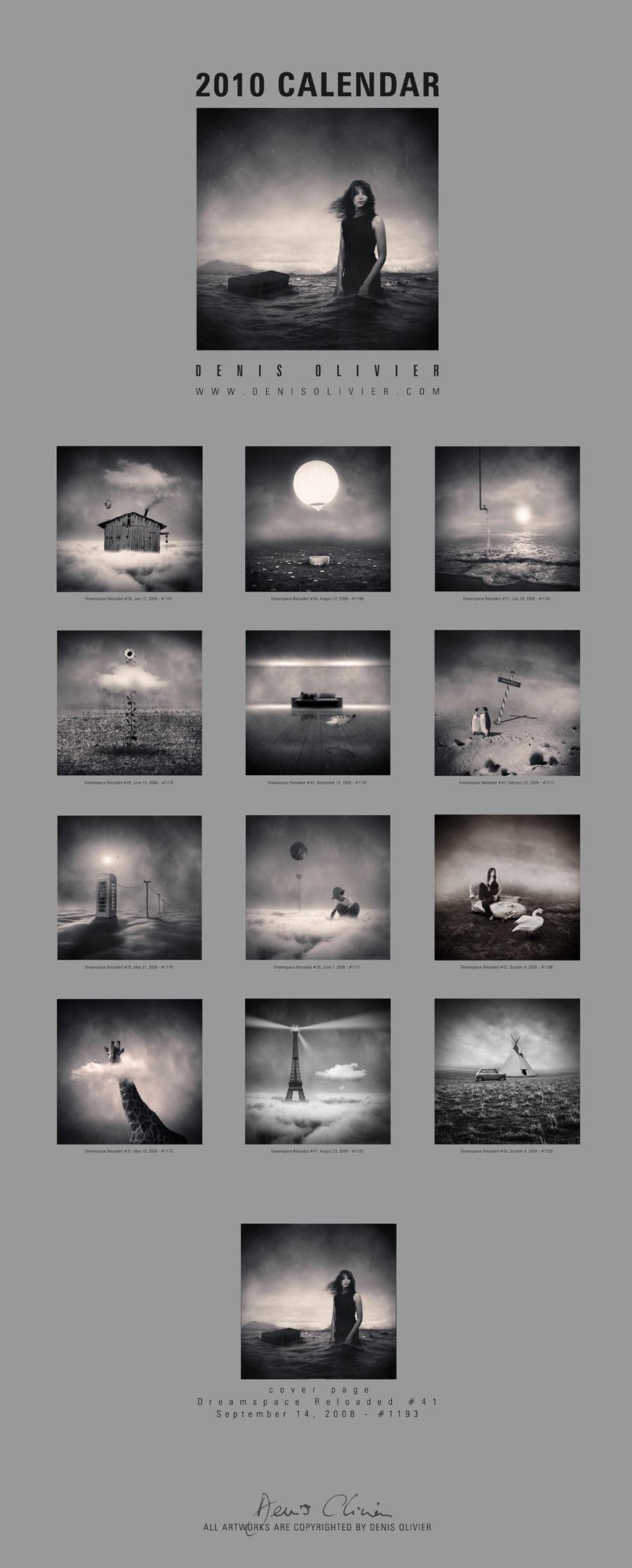 Calendar 2010 - Dreamspace by DenisOlivier