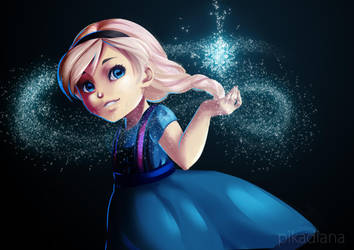 FROZEN: Little Elsa by pikadiana