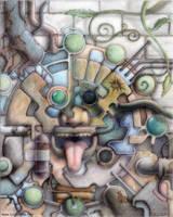 Mayan Future Mask by ivanjs