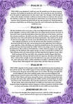 Psalm 23, 91, 99 + Jeremiah 29 v 11 Purple Version by Blood-Huntress