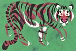 Papercut Tiger Sketch by Leonca
