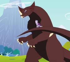 Gomora and Princess Platinum by Pyrus-Leonidas