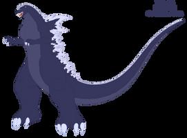 Kazuto Kokuryu Godzilla form by Pyrus-Leonidas