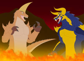 Galgameth vs Pulgasari by Pyrus-Leonidas