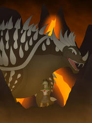 Applejack and Anguirus by Pyrus-Leonidas