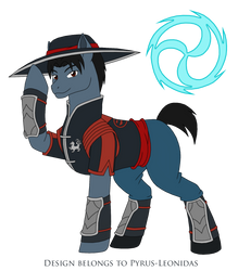 MK Kung Lao Earth Pony by Pyrus-Leonidas