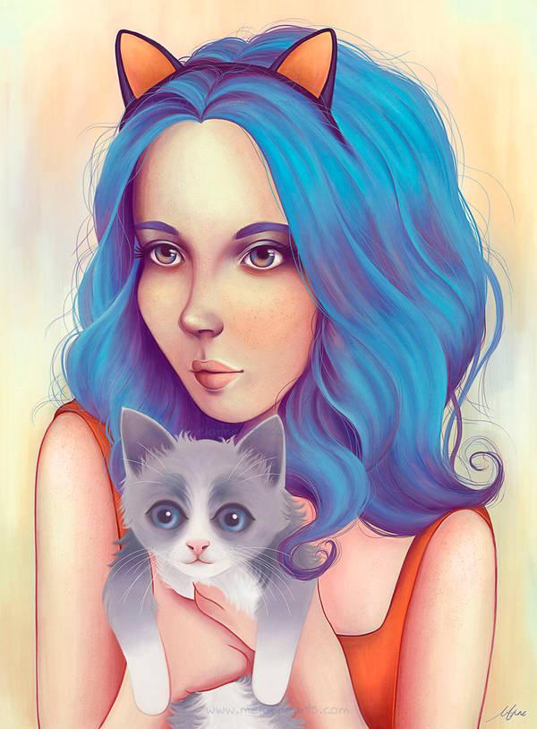 Kitty by melanneart