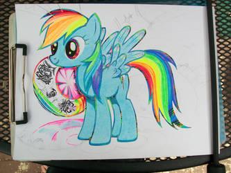 RainbowDashWIP by BumwardoImortal