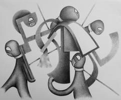 Arbeitende Typis by Fra-Ka