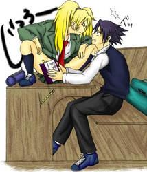 Sasuke and Naruko O.O by AniMetalKenno10k10