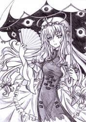 Yukari Yakumo by abyss-crimson