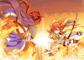 DaF: Blazing Flames by abyss-crimson