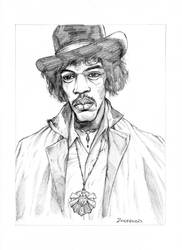 Jimi Hendrix by JZINGERMAN