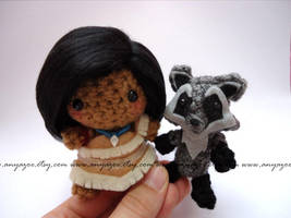 Pocahontas and Meeko Amigurumi by AnyaZoe