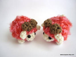 Limited Edition Red and Pink Sheep by AnyaZoe
