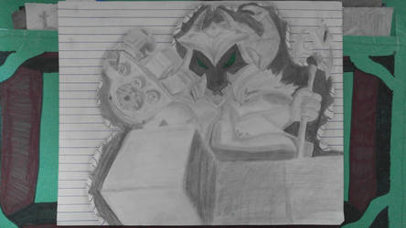 Veigar bursts out of paper by Mosesaurus