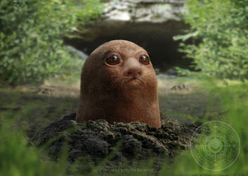 Diglett With Nose by Mosesaurus