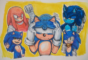 Sonic designs by heitor-jedi