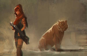 Tiger Sketch 02 by SebastianKowoll