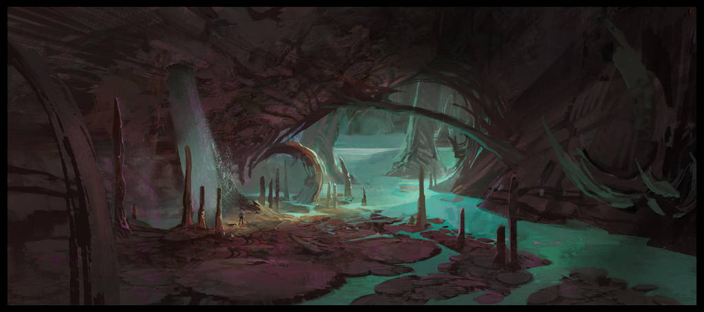 Ark: Aberration Blue Caves 3 by SebastianKowoll