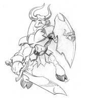 Bull Warrior by rampartpress