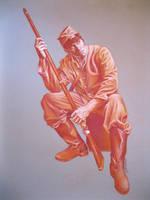 Rebel Soldier in Pastel. by rampartpress