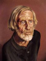 Old Man Portrait in Oils by rampartpress