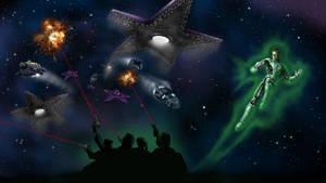 Green Lantern: Space Invasion by rampartpress