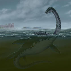 The Loch Ness Monster by rampartpress