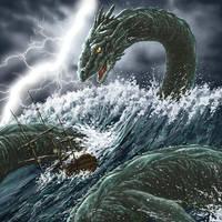 Sea Serpent by rampartpress