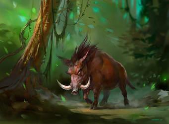 Wild Boar by ivelin