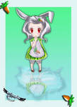 Rabbit  puddle by venomf