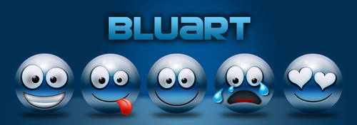 Bluart Smilies by sibbl