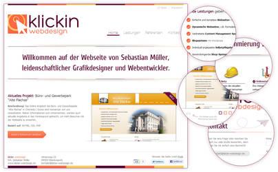 Klickin Webdesign by sibbl